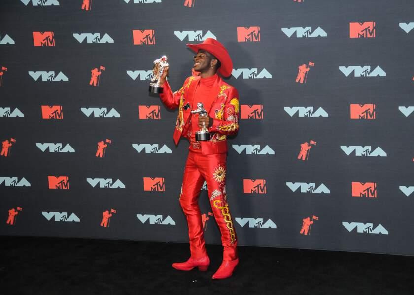 Lil Nas X à la remise de prix de la cérémonie des MTV Video Music Awards (MTV VMA's) à Newark dans le New Jersey