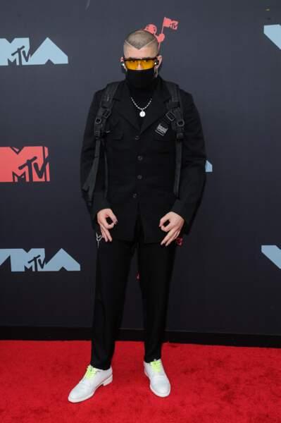 Bad Bunny à la remise de prix de la cérémonie des MTV Video Music Awards (MTV VMA's) à Newark