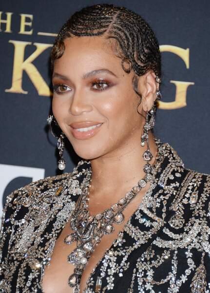 Beyonce Knowles à la première de The Lion King au théâtre Dolby dans le quartier de Hollywood à Los Angeles.