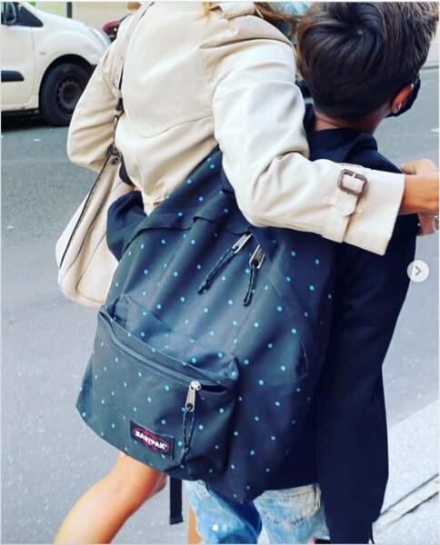 Ce 1er septembre, Melissa Theuriau a accompagné son fils, Léon, bientôt âgé de 12 ans, pour la rentrée des classes.