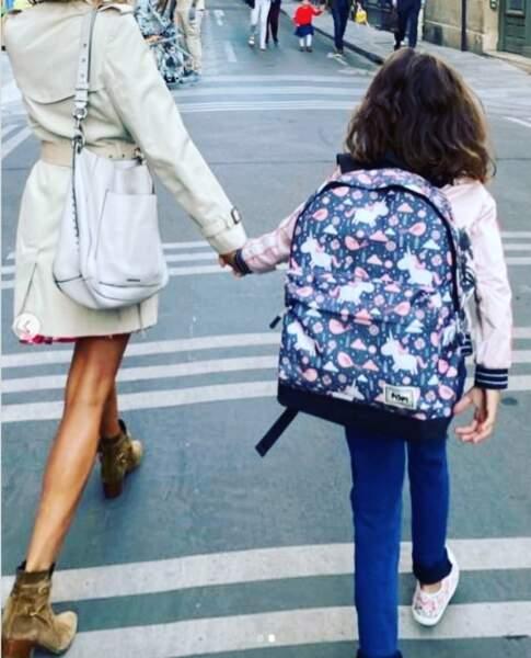 Melissa Theuriau était également présente pour sa fille, Lila, bientôt 9 ans, comme elle le dévoile sur Instagram.