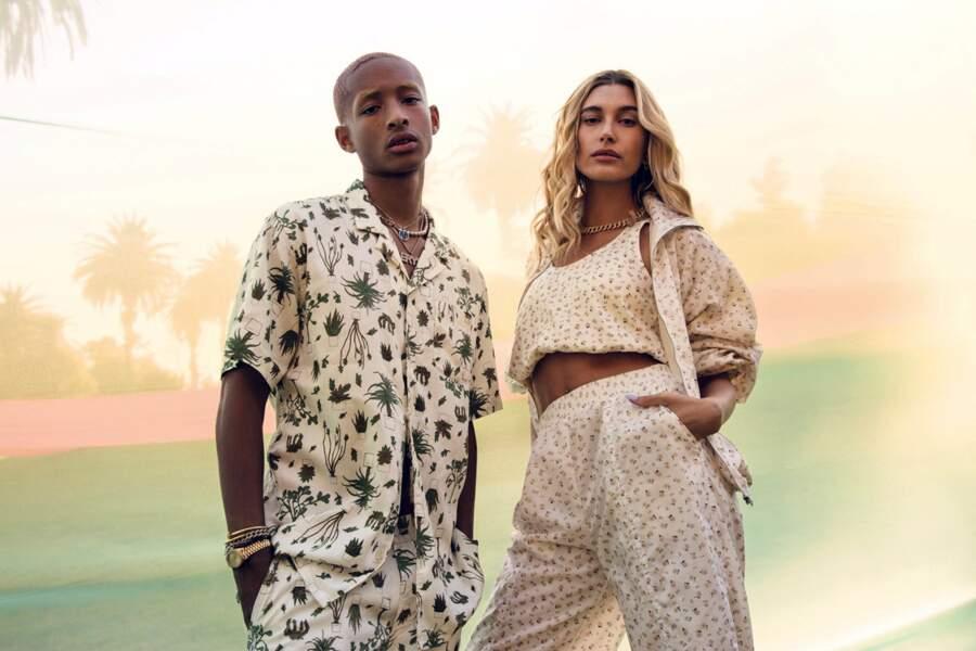 Hailey Baldwin et Jaden Smith posent pour la nouvelle campagne de Levi's le 27 avril 2020.