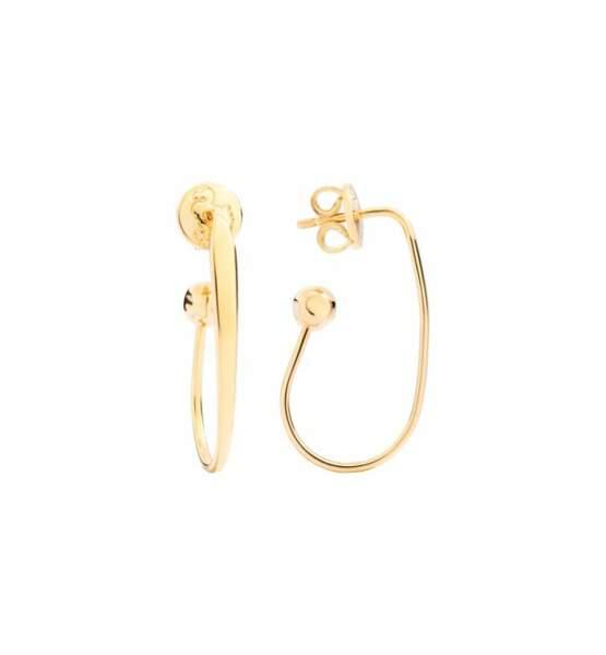 Boucles d'oreilles ovales en or jaune, 750€, dodo.it