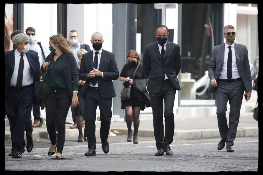 Edouard Philippe et Gilles Boyer se rendent au culte d'action de grâce célébré en mémoire d'Antoine Rufenacht, homme politique et ancien maire du Havre.