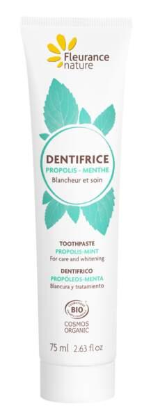 Dentifrice Propolis et Menthe, Fleurance nature, 4,95€, fleurancenature.fr