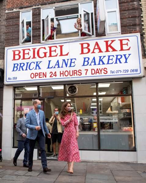 Les Cambridge se sont rendus dans une célèbre boulangerie de l'East London.