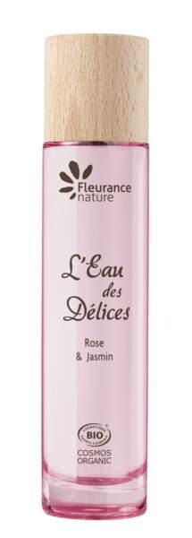 L'Eau des Délices Rose & Jasmin de Fleurance Nature
