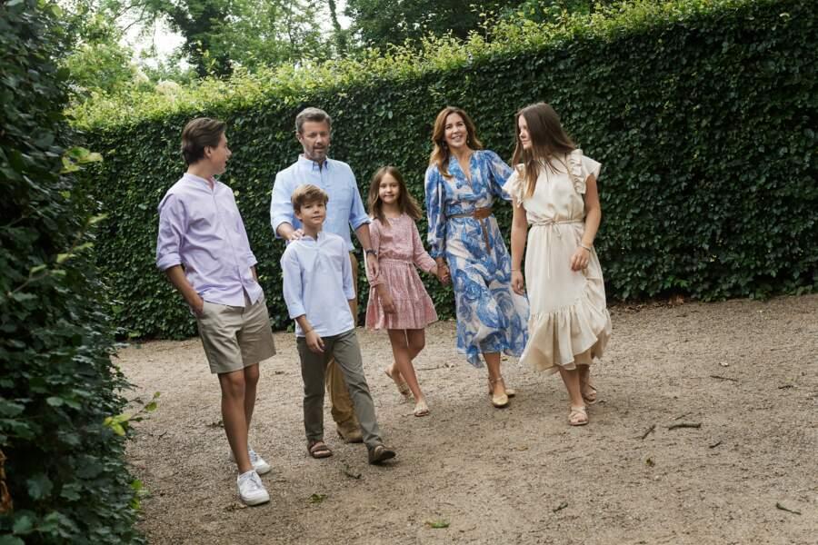 Frederik et Mary de Danemark, en vacances en famille le 31 août 2020