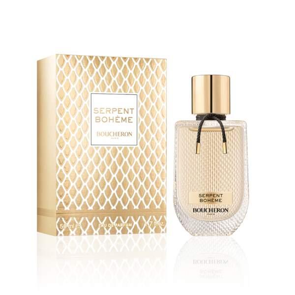 Eau de Parfum Serpent Bohême, Boucheron, 90 ml, 109 € en parfumeries, en avant-première chez Marionnaud