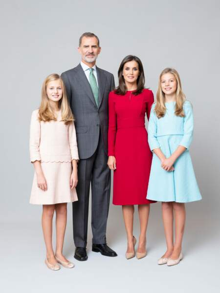 Photos officielles des membres de la famille royale d'Espagne dévoilées au mois de février 2020