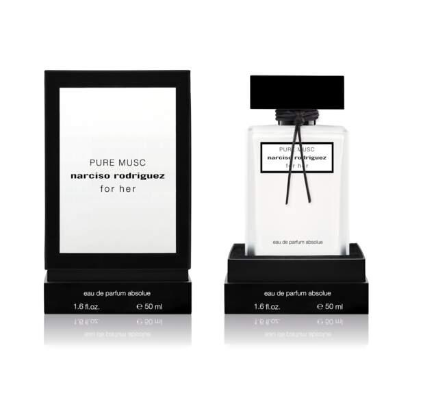 Pure Musc for Her de Narciso Rodriguez ('Eau de Parfum absolue, 50 ml, 100 €, en parfumeries)
