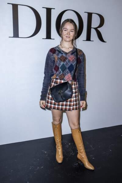 Pour l'occasion, Alexandra de Hanovre arborait un total look Dior