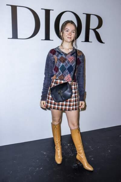 La princesse Alexandra de Hanovre a assisté au défilé Dior qui se tenait au Jardin des Tuileries à Paris