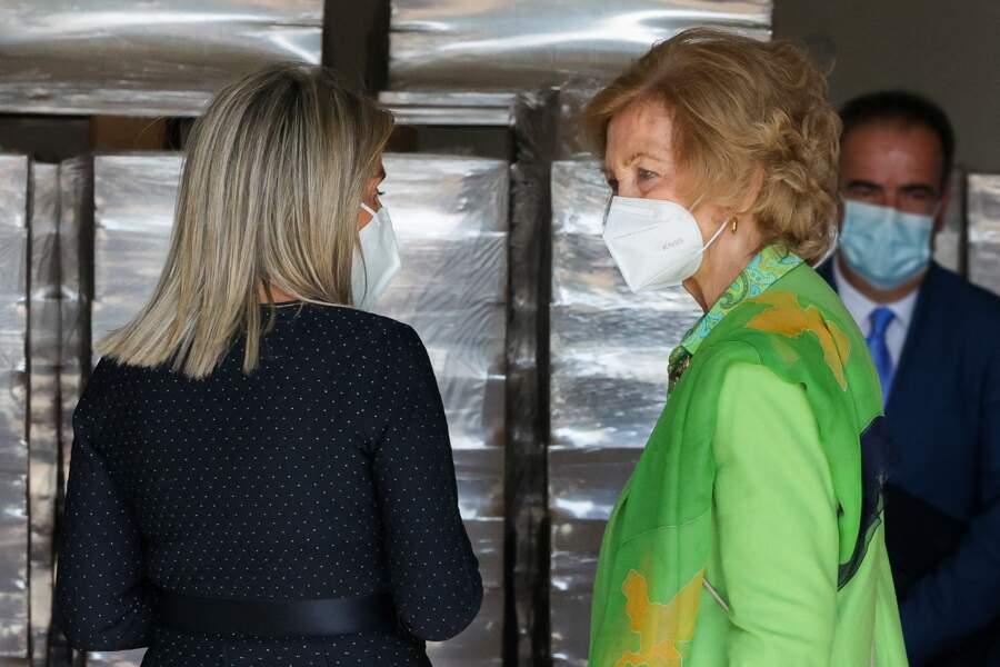 Ce mercredi 30 septembre, la reine Sofia portait en effet un ensemble vert, couleur monarchique en Espagne