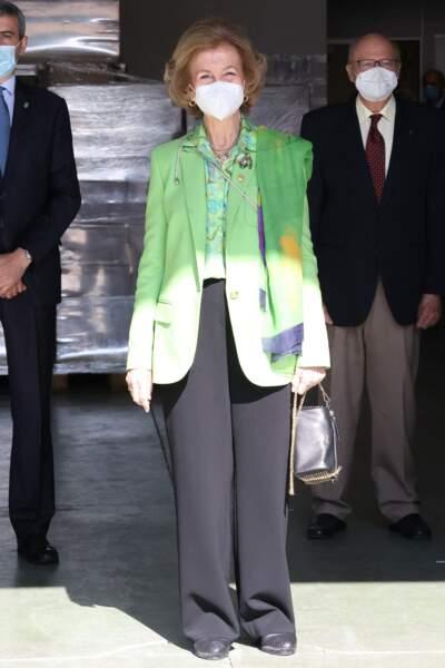 Quelques jours auparavant, c'est à Albacete que la reine Sofia avait visité une autre banque alimentaire
