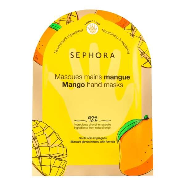 Masque Mains mangue, Gants Imprégnés, Sephora, 4,99€