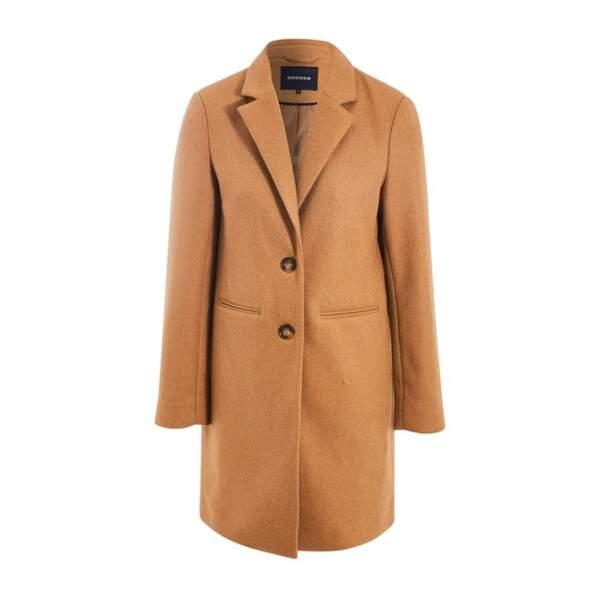 Manteau droit boutonné, 99,99€, bonobo sur laredoute.fr