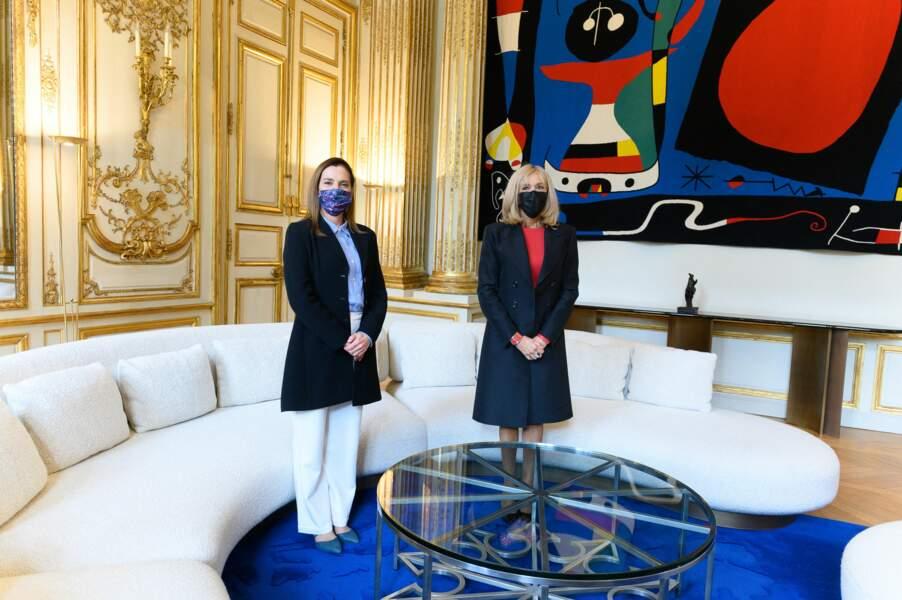 Ce 8 octobre 2020, Brigitte Macron a accueilli à l'Elysée son homologue mexicaine, Beatriz Gutiérrez Müller.