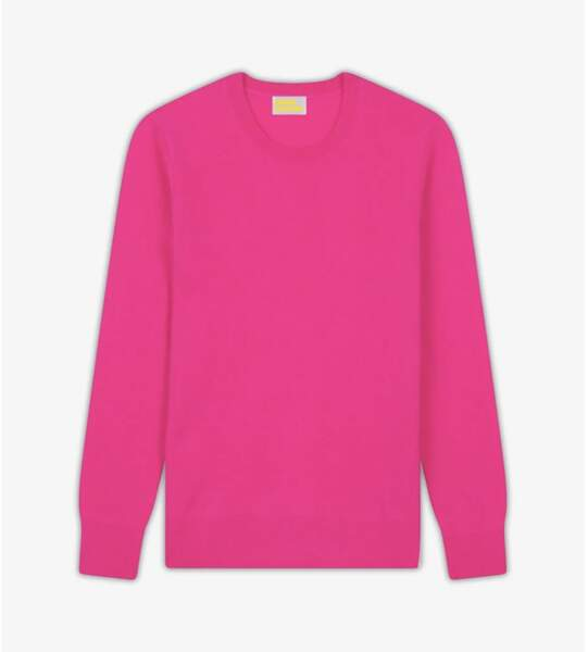 Pull en cachemire rose, 99 €, From Future