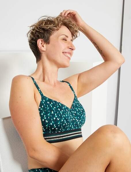 Haut de maillot de bain post-mastectomie, 16€, Kiabi