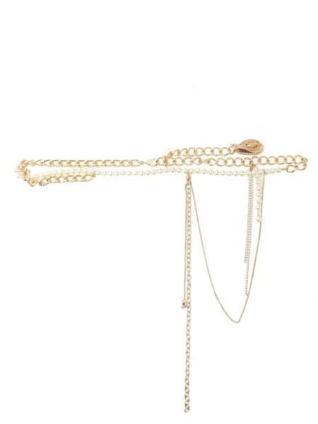 Ceinture chaîne en métal à coquillages, 475€, Marine Serre