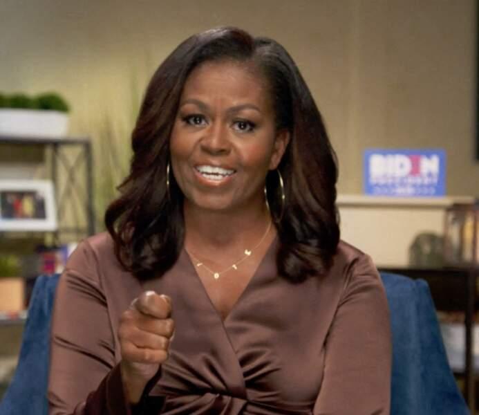 Michelle Obama et son brushing souple et classe