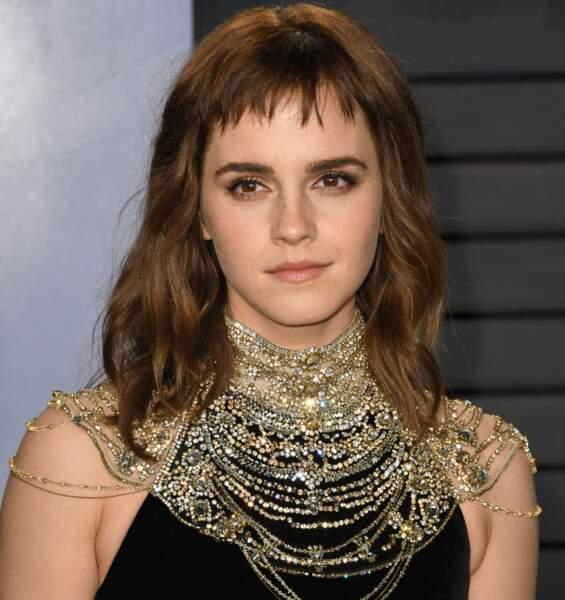 Emma Watson: ondulations + mini frange