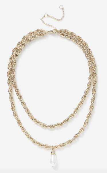 Colliers en perles, 13€, Topshop