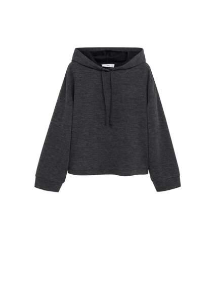 Sweat-shirt oversize jaspé, 25,99€, Mango nouvelle collection