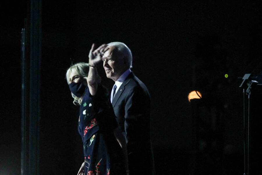 Joe Biden, et sa femme Jill, au soir de sa victoire à l'élection présidentielle américaine, le 7 novembre 2020.