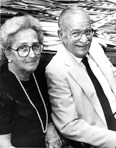 Jean Finnegan Biden et Joseph Robinette Biden, les parents de Joe Biden en 1988.