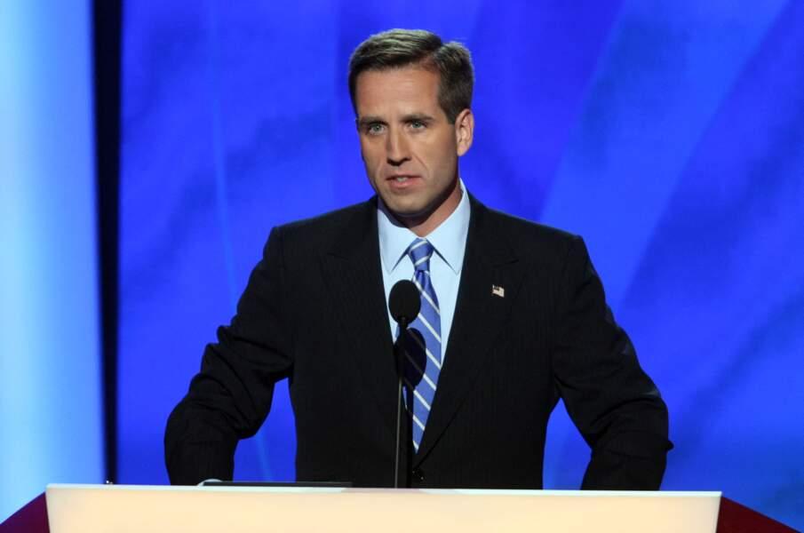 Beau Biden, l'un des fils de Joe Biden, décédé en 2015, lors de la campagne présidentielle de 2008.