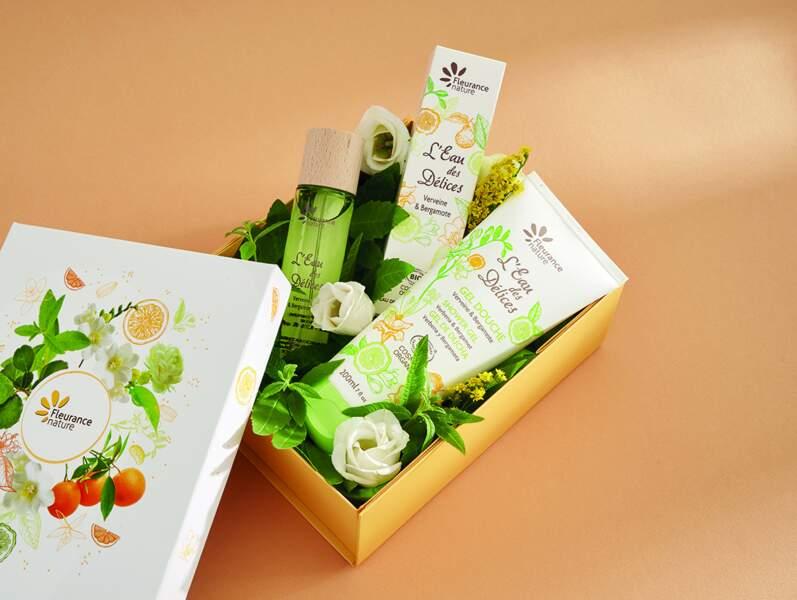 Coffret L'eau des Délices  Verveine et Bergamote, Fleurance Nature, 20,90€, fleurancenature.fr