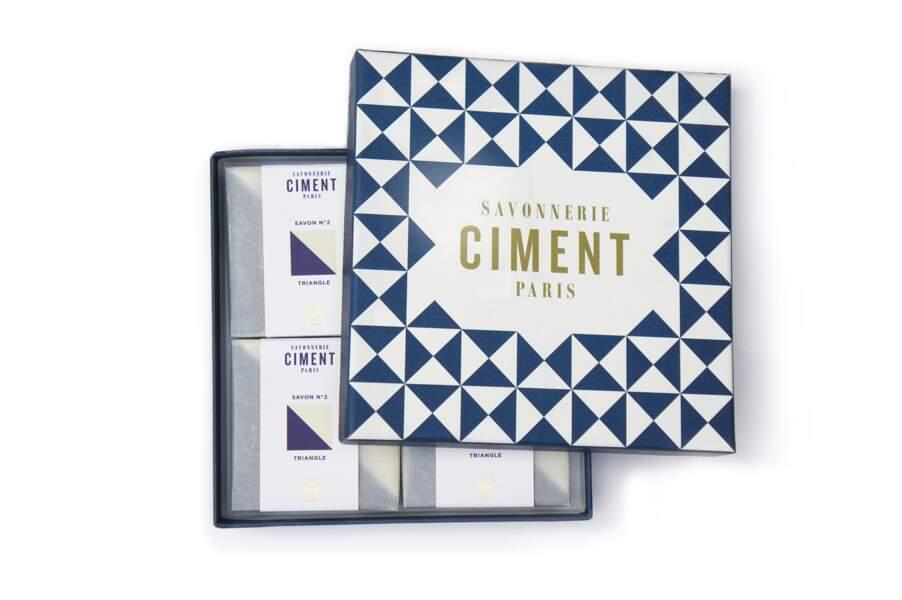 Coffret de savons, Ciment, 40 € sur ciment.paris