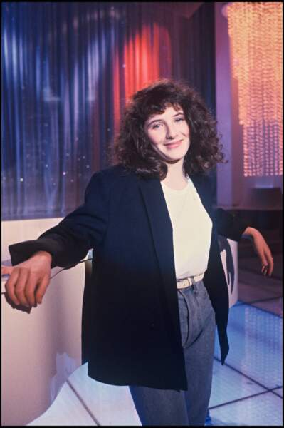 Elsa Lunghini à 14 ans, lors d'un passage télévisé en 1987.