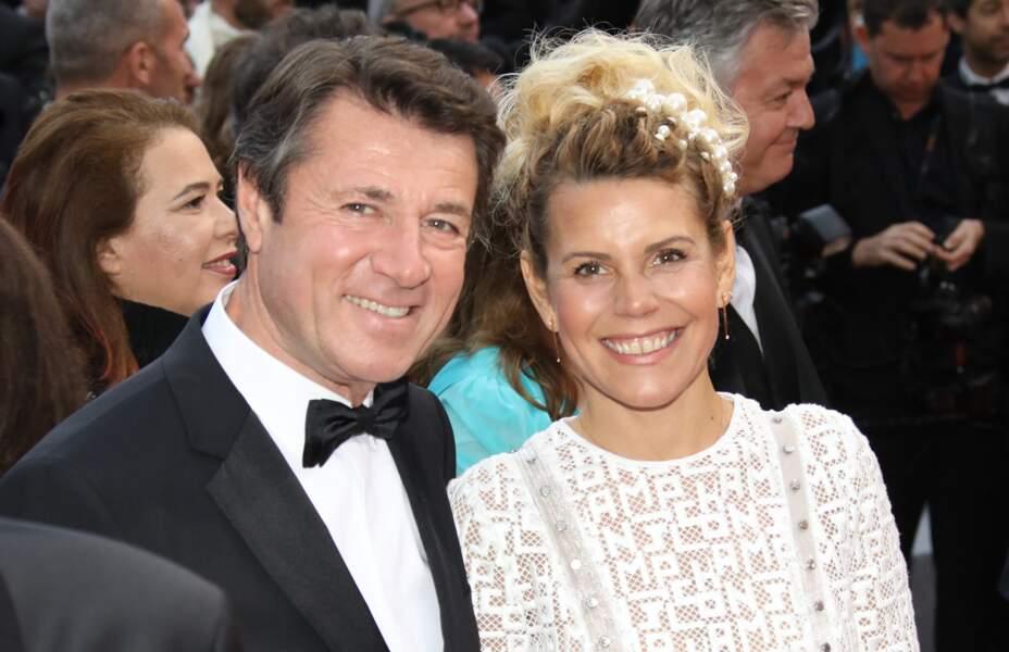 Christian Estrosi et Laura Tenoudji au Festival de Cannes en 2019