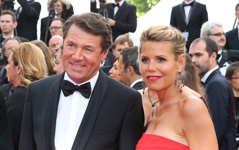 Christian Estrosi et Laura Tenoudji au Festival de Cannes en 2016