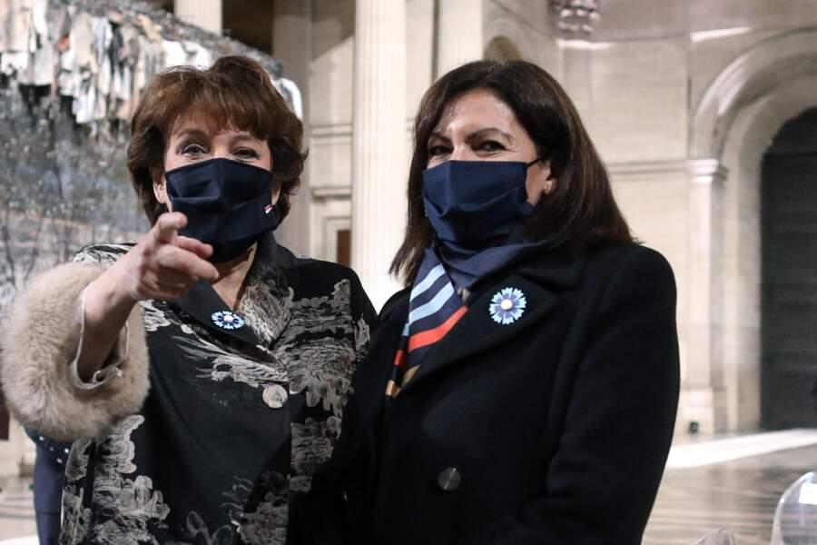 Roselyne Bachelot, ministre de la Culture  et Annne Hidalgo, maire de Paris, complices