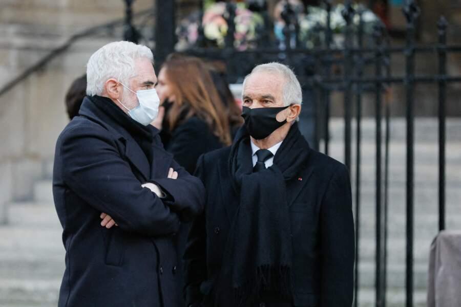 Alain Terzian s'est lui aussi rendu aux obsèques du producteur de Cyril Colbeau-Justin, à la basilique Sainte-Clotilde, à Paris.