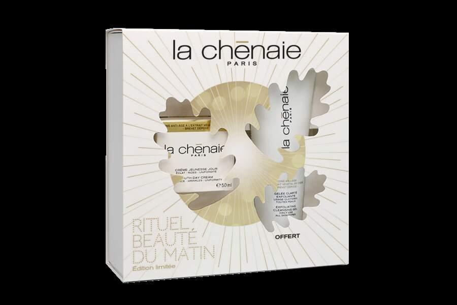 Coffret Rituel de Beauté du Matin, La Chênaie, 49€, en pharmacies et parapharmacies.