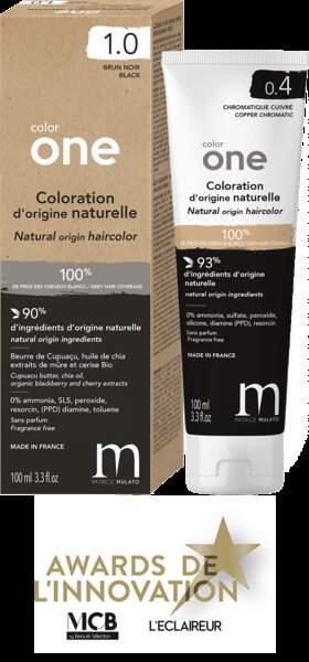 Color One Coloration d'origine naturelle, Patrice Mulato, 25,50 € Disponible sur le Curlshop.com