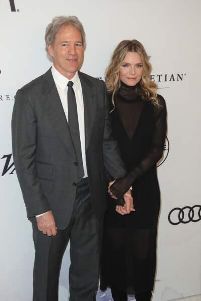 David E Kelley et sa femme Michelle Pfeiffer à la soirée Variety's Power of Women, à Beverly Hills, le 13 octobre 2017.