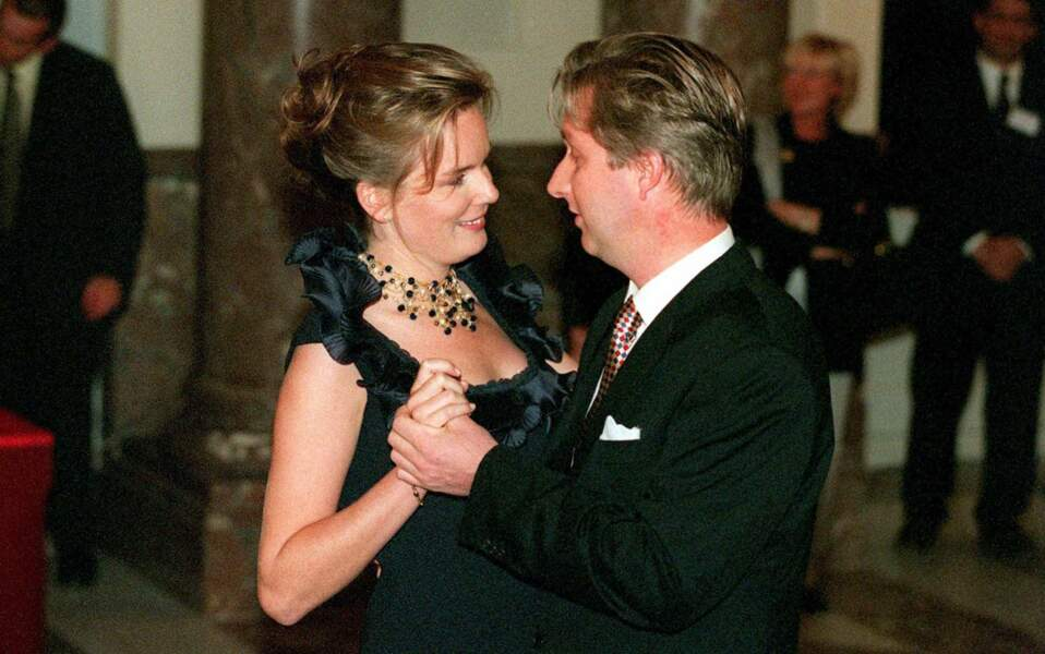 Les fiançailles de Philippe de Belgique et la reine Mathilde