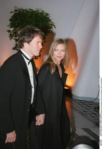 Michelle Pfeiffer et son époux, David E.Kelley, à la cérémonie de clôture du 40ème Festival de Monte-Carlo, en 2000.