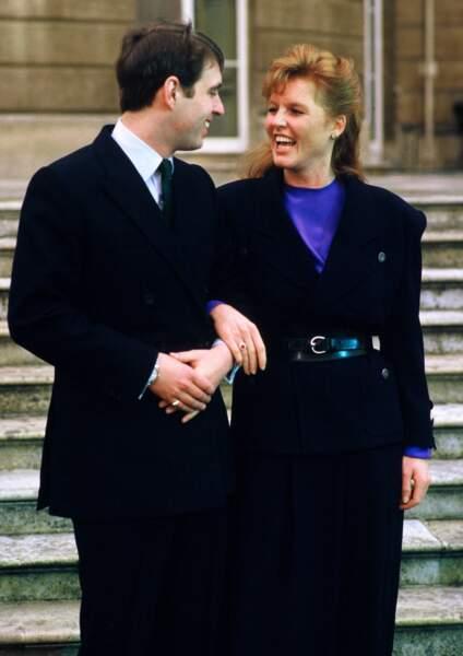 Les fiançailles de Sarah Ferguson et du prince Andrew