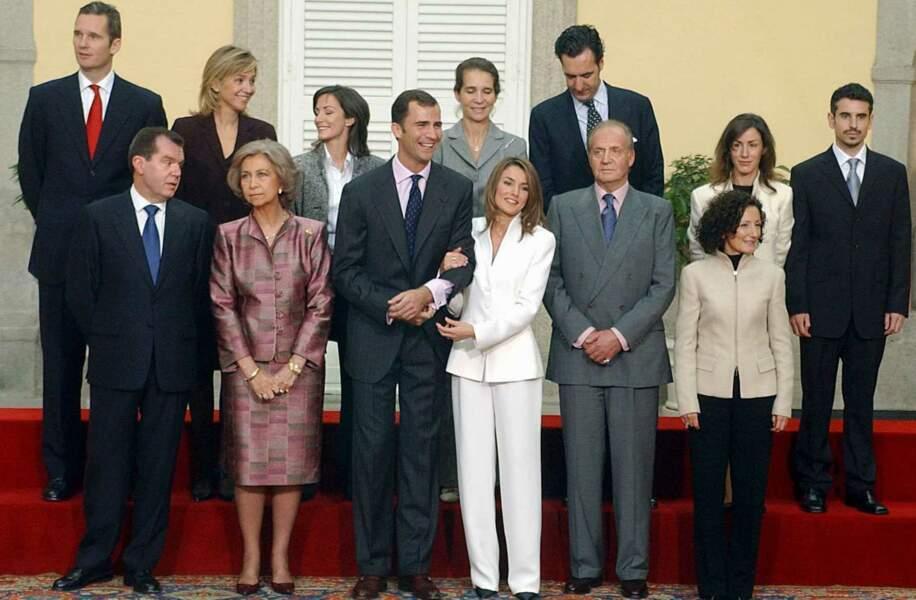 Les fiançailles du prince Felipe et Letizia.