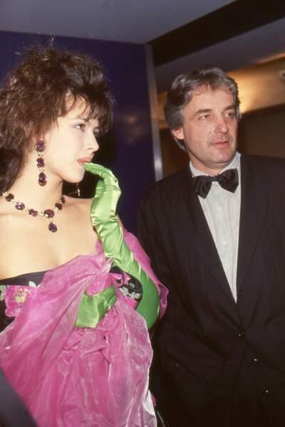 Sophie Marceau et son compagnon Andrzej Zulawski à Cannes en 1987.