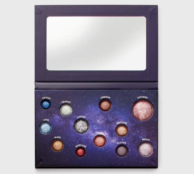 Palette d'ombres à paupières Celestial, Monoprix Makeup, 9,99 €