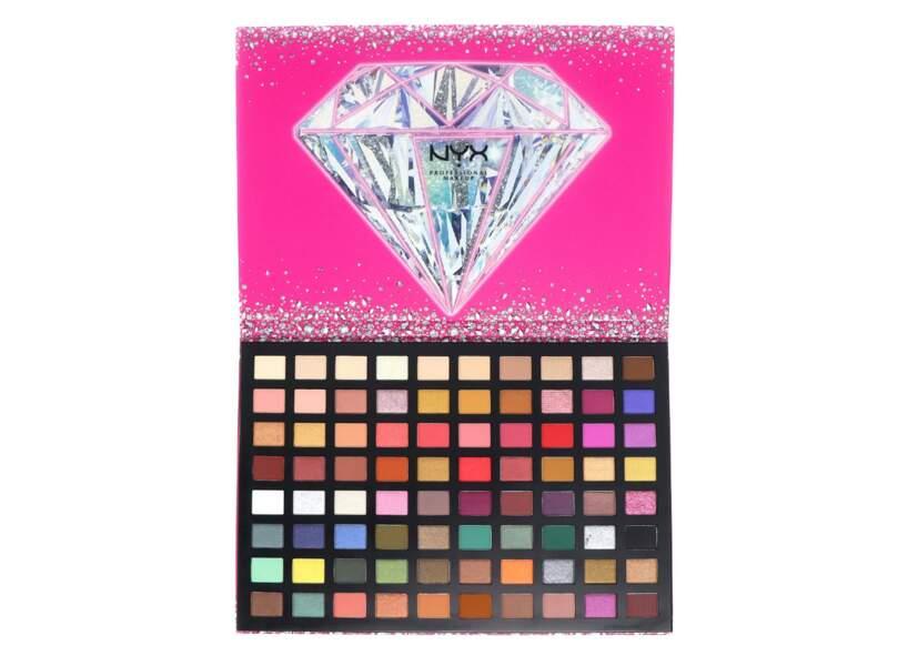 Diamond and Ice, Please! Palette de 80 Fards à Paupières, Nyx Cosmetics, 59,90 €