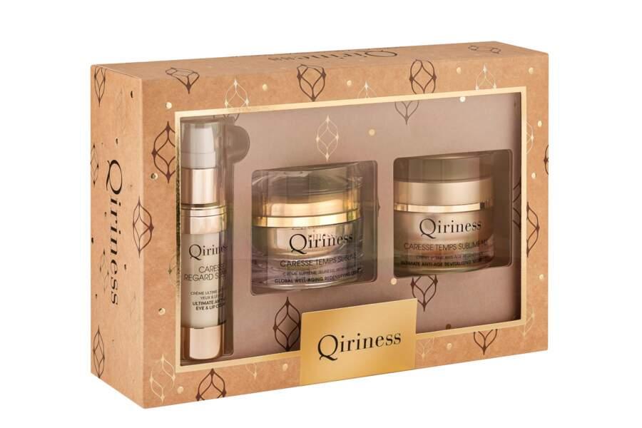 Coffret Boîte à caresse Temps Sublime, Qiriness, 111,16 € au lieu de 158,80€ , édition prestige, sur qiriness.com et marionnaud.fr